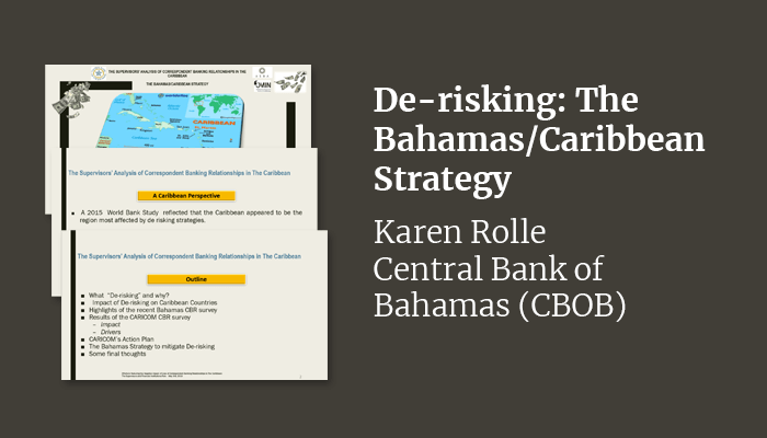 De-risking: The Bahamas/Caribbean Strategy