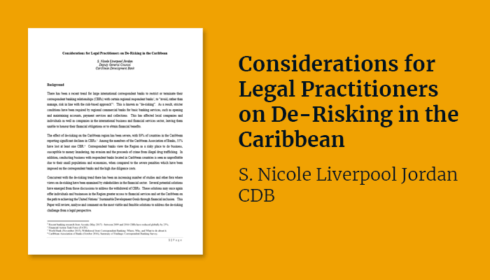 Considerations for Legal Practitioners on De-Risking in the Caribbean